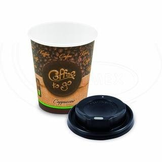 "Pap. kelímek ""Coffee to go"" 280 ml, + víčko (Ø 80 mm) [10 ks]"